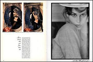 1960 Jane Fonda 23y/o 4 page magazine photo shoot article Tall Story movie adl83