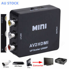 Av2hdmi Composite AV CVBS 3rca to HDMI 1080p Converter Adapter Video Upscaler HD