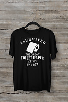 I Survived  TOILET PAPER T-Shirt Breaking News Funny Humorous Tee Unisex