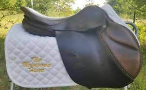 EXCELLENT Stubben Edelweiss Jumping Saddle - 32cm W WIDE gullet - 17 inch seat