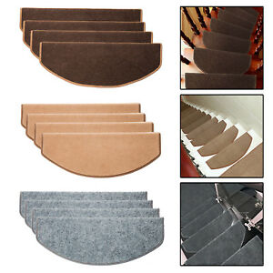 5PCS Stair Tread Carpet Mats Step Staircase Non Slip Mat Protection Cover Pads