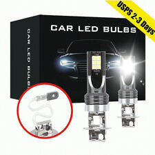 2x H3 LED Fog Lights COB Headlight 50W 14000LM Conversion Kit 6000K Driving DRL