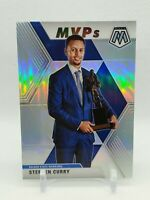 2019-20 Mosaic Stephen Curry MVPs SILVER PRIZM SP HOLO MVP #299 PSA BGS Ready