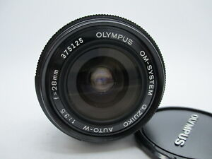 【NEAR MINT】 Olympus OM-System G. Zuiko Auto-W 28mm f/3.5 Lens For OM Mount  SLR