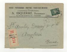 France 1 timbre sur lettre R 1945  /L343