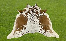 Small Cowhide Rug Brown Real Hair on Cow Hide Animal Skin Area Rugs 5 x 5 ft