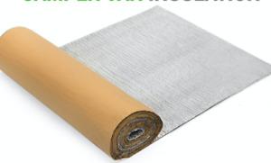 Camper Van insulation, single foil self adhesive10m2 (2 Rolls) Free Postage