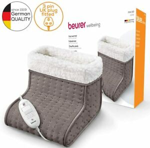 Beurer FW20UK Cosy Foot Warmer - Taupe   Electric Foot Warmer for Men and Women