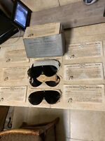Lot of 11 WWII US Navy Pilot B-8 Flight Lenses Neutral & Goggle Box Air Corps **