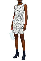 MOSCHINO Lace-trimmed printed ponte mini dress NWT BRAND NEW SIZE XL