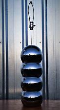 "George Kovacs 4 Stacked Chrome Balls Orbs Table Lamp 7"" Diameter Vintage MCM"