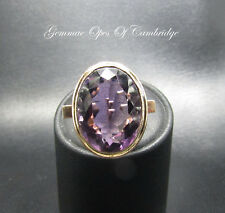 Tests as 12ct Gold Large Amethyst Ring Size i 10.6g 14.6 carats