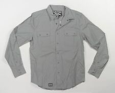 Electric FAIRVIEW Mens Long Sleeve Snap Front Shirt Grey Medium NEW