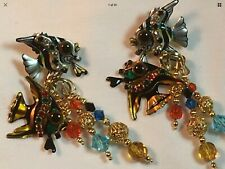 """Lunch at the Ritz Earrings """"Angel Fish"""""""