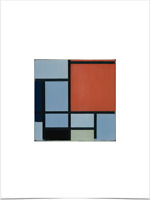 PIET MONDRIAN COMPOSITION RED GRAY BLACK WHITE YELLOW LIMITED EDITION ART PRINT