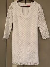 Lilly Pulitzer - Mara Resort White Paradise Island Lace Dress Sz Small