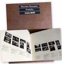 MAURIZIO BUSCARINO PORTFOLIO LA CASA USHER 16 TAVOLE (FOTOGRAFIE) 1983