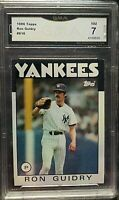 1986 Topps #610 RON GUIDRY GMA NM 7