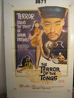 The Terror of the Tongs Original 1sh Movie Poster '61 drug-crazed assassins!