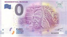 0 Null Euro Schein Neanderthal Museum Zéro 2018-1 € Neandertal Billet  (131)