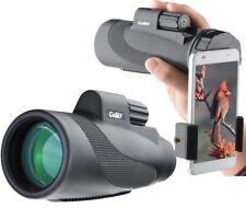 Gosky Titan Watetproof 12X50 BAK4 Prism Monocular with Smartphone Adapter FMC