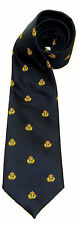RN ROYAL NAVY CROWN AND ANCHOR MOTIF REGIMENTAL TYPE UK MADE MILITARY TIE