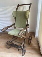 More details for antique pushchair, vintage, victorian child's pushchair c.1880