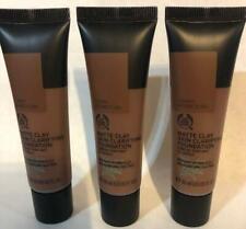 The Body Shop Matte Clay Skin Clarifying Foundation 084 Tigray Arabica 1 oz. x3.