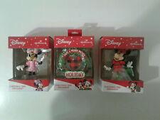 New listing Hallmark Disney Minnie IceSkating, Cell phone,Have a Merry Mickey Ornament Lot