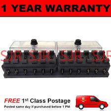 NEW 12 WAY UNIVERSAL STANDARD 12V 12 VOLT ATC BLADE FUSE BOX CLEAR CAR VEHICLE