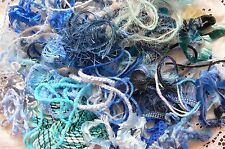 EMBELLISHMENT FIBRE Pk Mix appx 1/2 Metre Ea over 30 BLUE Colour Njoyfull Crafts