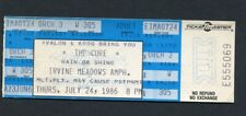 1986 The Cure Unused Concert Ticket Head On The Door Close To Me Irvine Meadows