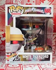 "Funko POP 6"" Power Rangers White Tiger Zord Pop. 25 ans Anniversaire Limited Ed"