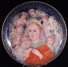 Edna Hibel Christmas Plate, 1985, The Angels' Message, Edwin Knowles