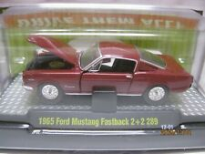 M2 Machines Detroit Muscle R18 1/64 *Nip - '65 Mustang Fastback 2+2 - Burgundy