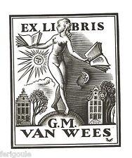 EX-LIBRIS de G. M. VAN WEES par Valentin Le Campion.