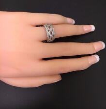 Kirk Kara 18K White Gold Wide Diamond Ring! 0.92-Carats! Size 6.0