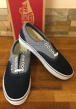 VANS Era 2 Tone Navy Polkadot & Leather Lace Up Trainers - UK 7/US 8