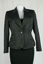 Dolce & Gabbana Black Lace Textured Tailored Jacket, Size:UK12/EU42