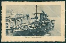 Taranto Regia Nave Roma Marina Militare cartolina XB1740
