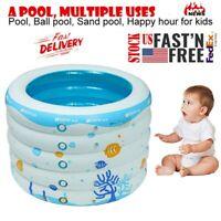 Baby Swimming Pool Inflatable Bathtub Portable Pad Pool Ball Pool Fits 0-3 years