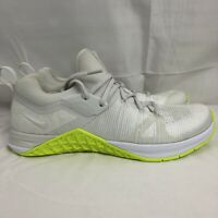 Womens Nike Metcon Flyknit 3 Size 10 White Volt Linen AR5623-117