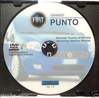 DVD MANUALE OFFICINA FIAT GRANDE PUNTO 1.2 1.4 8V-16V-1.3-1.9 JTD Multijet-Sport