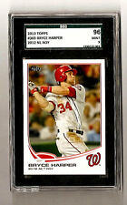 "Bryce Harper Washington Nationals 2013 Topps #369 ""2012 NL ROY"" SGC 96 Mint 9"