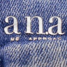 """WOMENS A.N.A STRAIGHT LEG BLUE JEANS PANTS 27/4 29"""" X 33"""" VINTAGE CLASSIC LOOK"""
