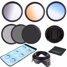 52mm Graduated Gradient Colour ND2 4 8 Lens Filter Kit For Canon Nikon Camera