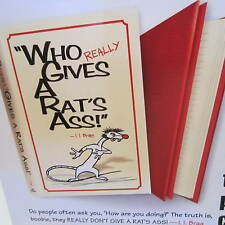 Lot of 5 Who Gives a Rat's Ass Personal Quality Journal-Yellow Cover List $19.95
