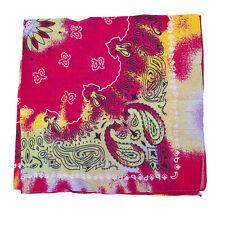 Tie Dye Paisley Fashion Bandana Lux Accessories Red Multicolor Retro Hippie