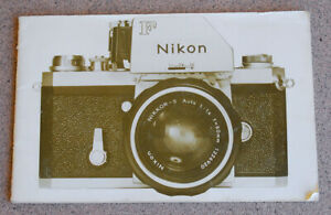 Nikon F WHITE System Camera Product Brochure Guide - 1972 - 28 pages