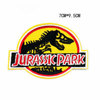Jurassic Park Dinosaur Embroidered Patches Badge Sew Iron On Fabric Applique DIY